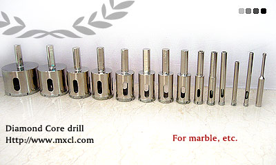 Diamond plated core drill