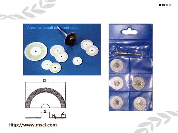 Small abrasive diamond disc
