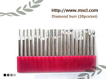 20pcs assortment of diamond burr set